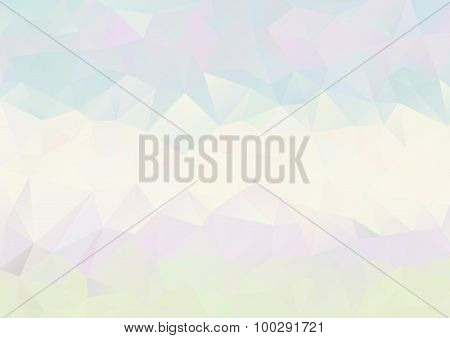 Cubism Background Pale Cool Blue Purple Green