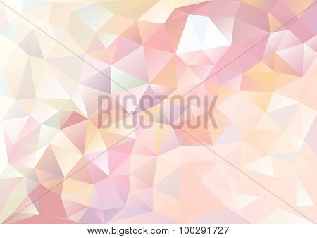 Cubism Background Pale Red Of Flow