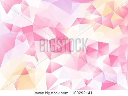 Cubism Background White And Pink