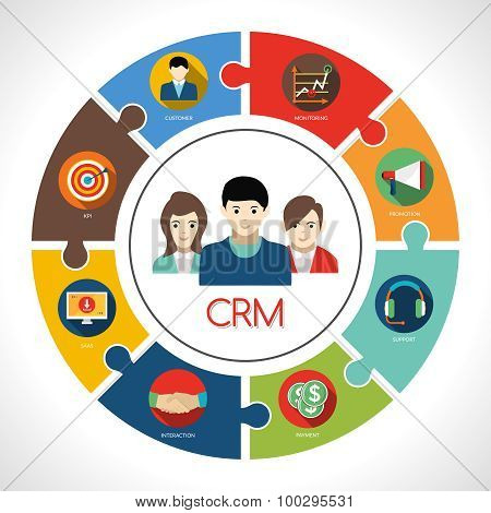 Crm Concept Illustration