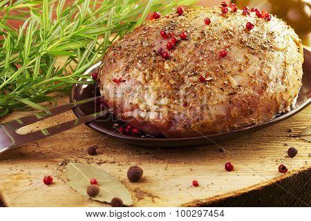 Raw Ham In Marinade