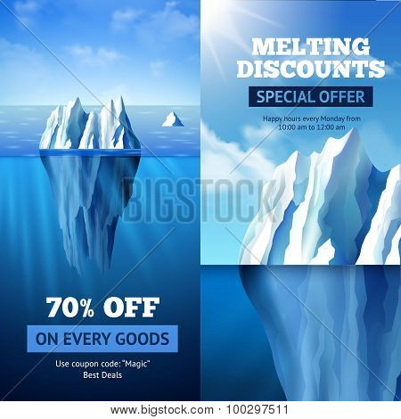 Iceberg Sale Banners