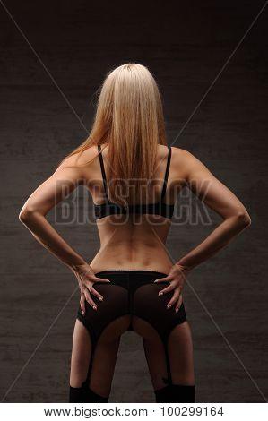 Sexy Girl In Underwear Lingerie Beauty Ass