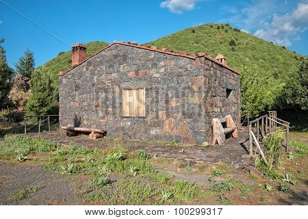 stone Refuge 'Chiuso' in Etna National Park, Sicily