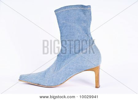 Blue jeans ladies shoes