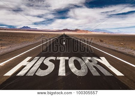 History written on desert road