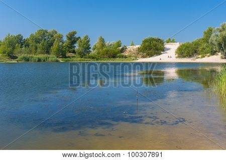 Summer on a Dnepr river