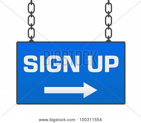 Sign Up Signboard