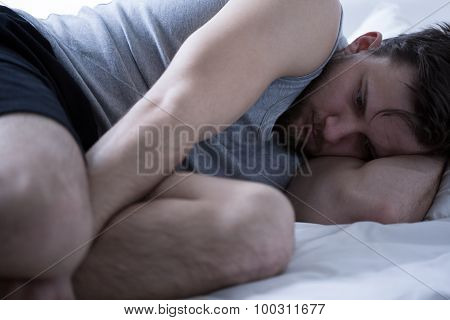 Exhausted Man With Insomnia