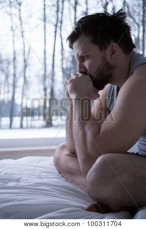 Stressed Man Having Crisis