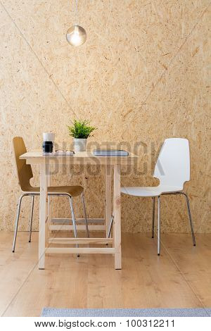 Simple Studio With Eco Furniture