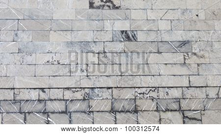 Facing The Old Wall Variegated Marble