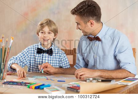 Talented Pupil With Teacher