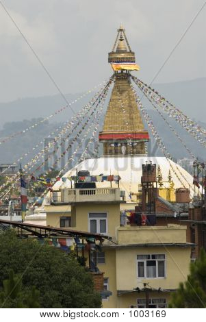 Low Angle View Of The Idol Of A Goddess, Katmandu, Nepal