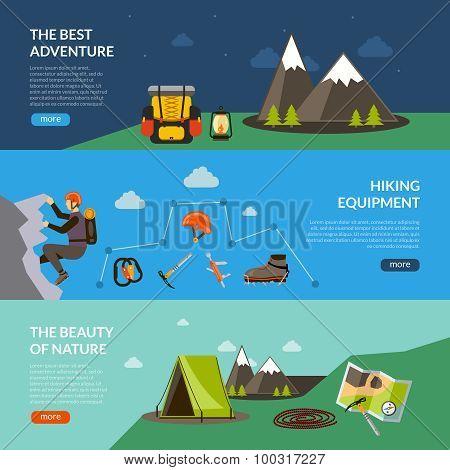 Camping Adventure Banner Set