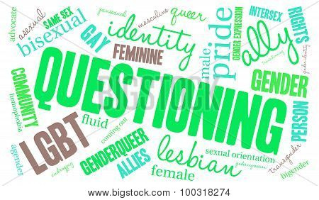 Questioning Word Cloud