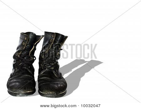 Torn old boots