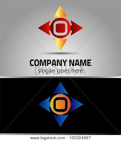 Alphabet icon O logo