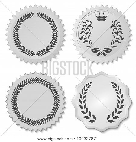 stickers set with laurel wreaths