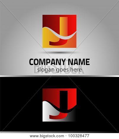 Letter J symbol logo icon template
