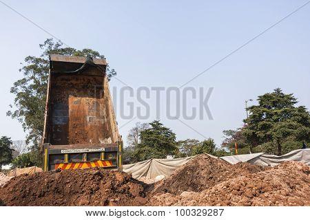 Truck Earthworks Dumping