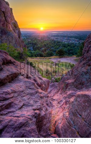 Sunrise Over Boulder, Co