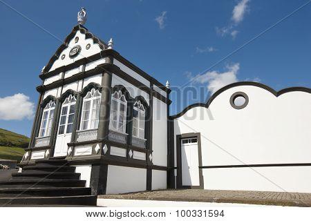 Traditional Azores Chapel. Imperio Do Porto Martins. Terceira. Portugal