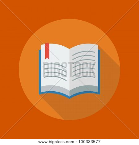 Education Flat Icon. Book