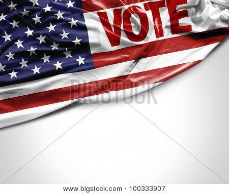 Vote USA waving flag