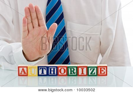 Businessman With Blocks