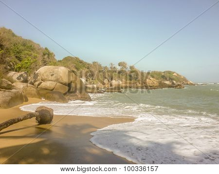 Tropical Beach Of Tayrona National Park