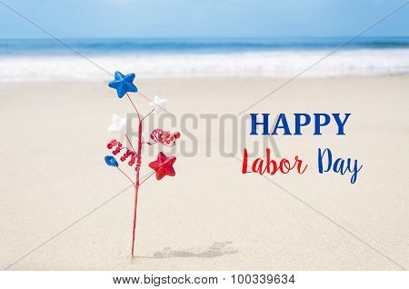 Labor Day Usa Background With Decoration
