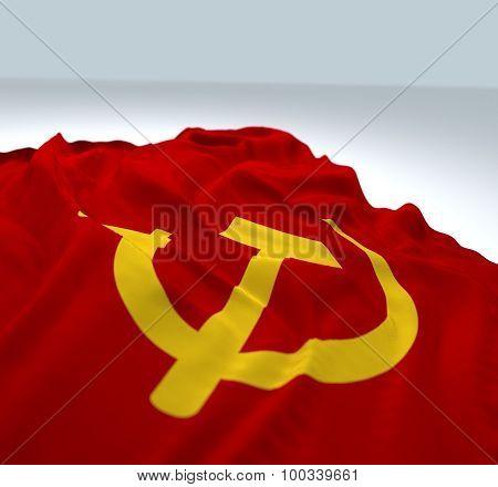 Waving Communist Flag