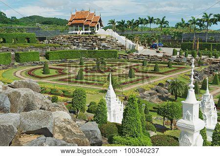 Exterior of the Nong Nooch Tropical Botanical Garden in Pattaya, Thailand.