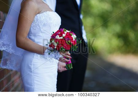 Bridal Bouquet In A Hands Of Bride