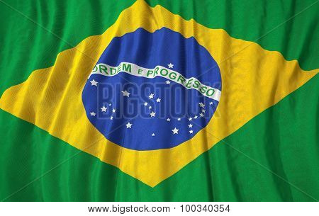 Corrugated Brazil Flag