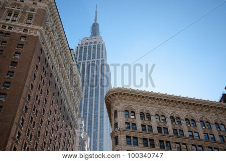 NEW YORK CITY, USA - SEPTEMBER, 2014: Empire State Building and Flatiron Building
