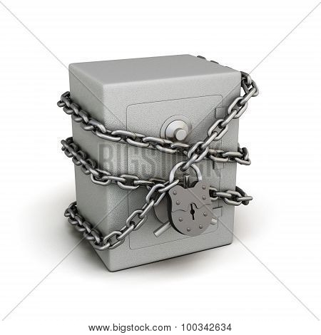 Safe In The Chain With A Lock
