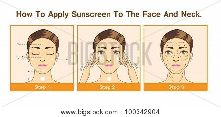 How to apply sunscreen to the face and neck