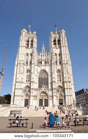 Cathedral Of St. Michael And Gudula In Brussels, Belgium