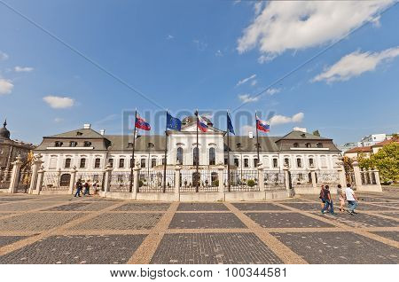 Grassalkovich Palace (1760) In Bratislava, Slovakia