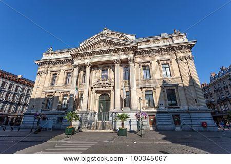 The Stock Exchange Building In Brussels, Belgium