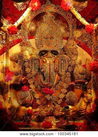 Studded Ganesh Idol