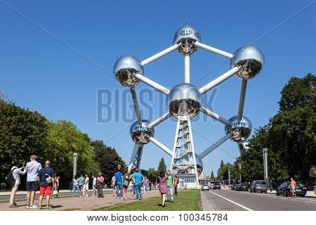 The Atomium Building In Brussels, Belgium
