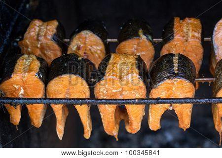 Smoked  fish - smoked salmon