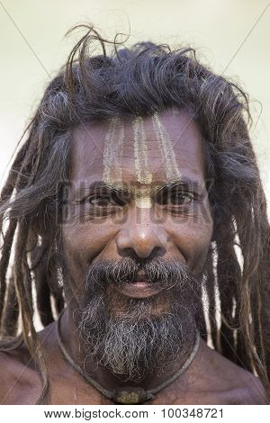 Portrait Sadhu, Holy Man. Rishikesh, India