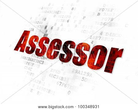 Insurance concept: Assessor on Digital background