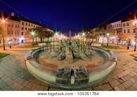 Kosice Fountain Fisheye
