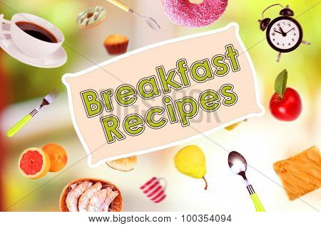 Breakfast dishes in collage and text Breakfast Recipes