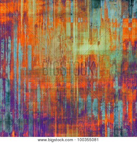 Abstract distressed grunge background. With different color patterns: brown; blue; red (orange); purple (violet)